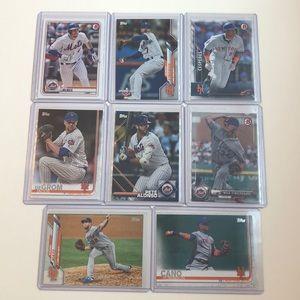 Lot of 9 New York Mets Topps MLB Baseball Cards